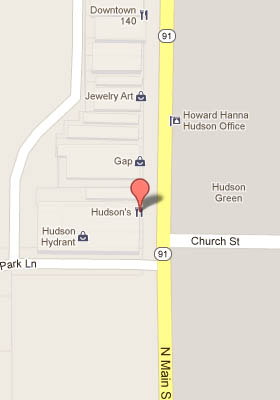 Map to Hudson Hudson's Location